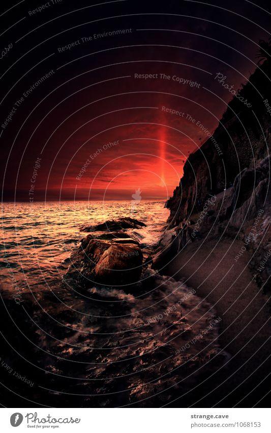 Spanien- Meer bei Sonnenuntergang Lifestyle Reichtum Freude Glück schön harmonisch Wohlgefühl Zufriedenheit Sinnesorgane Erholung ruhig Meditation