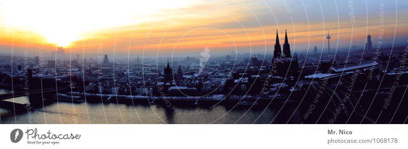 ahl drecklije stadt Umwelt Himmel Winter Klima Stadt Stadtzentrum Skyline Wahrzeichen Horizont Köln Nordrhein-Westfalen Kölner Dom Rhein Hohenzollernbrücke
