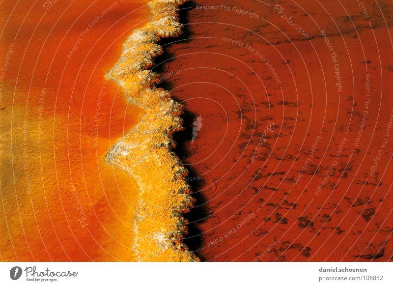 gelborange Wasser rot Hintergrundbild heiß Australien Quelle Neuseeland Bakterien Sediment Geysir Geologie Vulkanologie