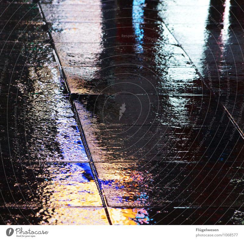 NYC Lights 33 Ferien & Urlaub & Reisen Freiheit Sightseeing Städtereise überbevölkert Architektur berühren leuchten Spiegelbild Reflexion & Spiegelung Pfütze