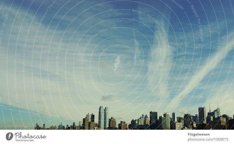 City of New York Skyline f) Ferien & Urlaub & Reisen Tourismus Ausflug Abenteuer Ferne Freiheit Sightseeing Städtereise überbevölkert Hochhaus Bauwerk Gebäude