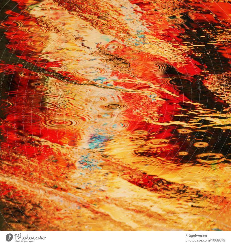 NYC Lights 30 Ferien & Urlaub & Reisen Sightseeing Städtereise Skyline überbevölkert leuchten nass mehrfarbig Pfütze Farbenspiel Farbenwelt Farbenmeer Farbstoff