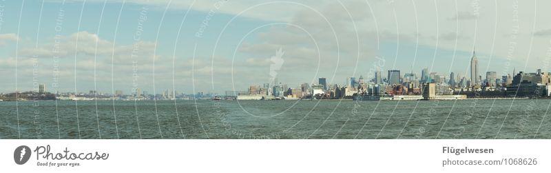 City of New York Skyline d) Ferien & Urlaub & Reisen Tourismus Ausflug Abenteuer Ferne Freiheit Sightseeing Städtereise überbevölkert Hochhaus Bauwerk Gebäude
