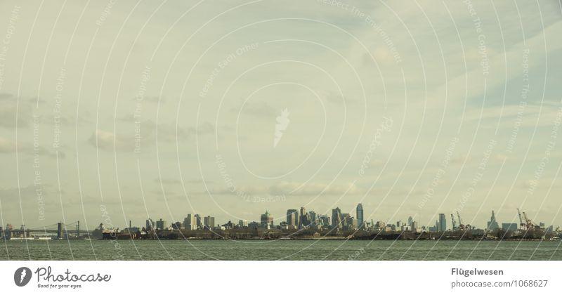 City of New York Skyline b) Ferien & Urlaub & Reisen Ferne Architektur Gebäude Freiheit Tourismus Hochhaus genießen Ausflug Abenteuer Bauwerk Skyline Wahrzeichen Sehenswürdigkeit Amerika Sightseeing