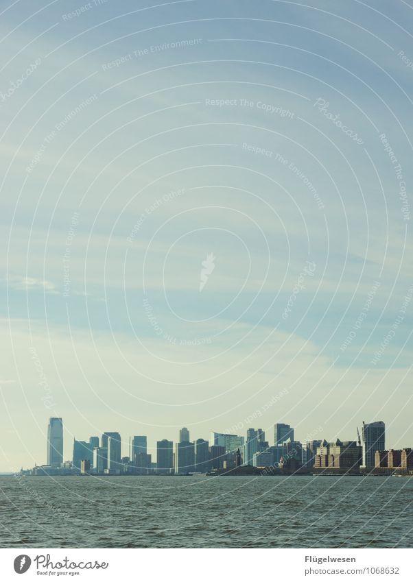 New Jersey Skyline Ferien & Urlaub & Reisen Ferne Architektur Gebäude Freiheit Tourismus Hochhaus Ausflug beobachten Abenteuer Skyline Sehenswürdigkeit Sightseeing Städtereise Kreuzfahrt New York City
