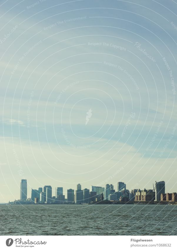 New Jersey Skyline Ferien & Urlaub & Reisen Tourismus Ausflug Abenteuer Ferne Freiheit Sightseeing Städtereise Kreuzfahrt überbevölkert Hochhaus Gebäude