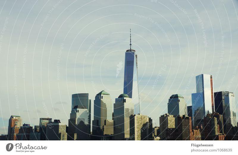 City of New York Skyline t) Ferien & Urlaub & Reisen Tourismus Ausflug Ferne Freiheit Sightseeing Städtereise überbevölkert Hochhaus Bauwerk Gebäude Architektur