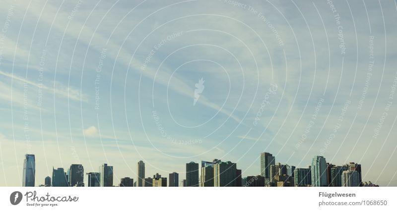 City of New York Skyline u) Ferien & Urlaub & Reisen Tourismus Ausflug Abenteuer Ferne Freiheit Sightseeing Städtereise überbevölkert Hochhaus Bauwerk Gebäude