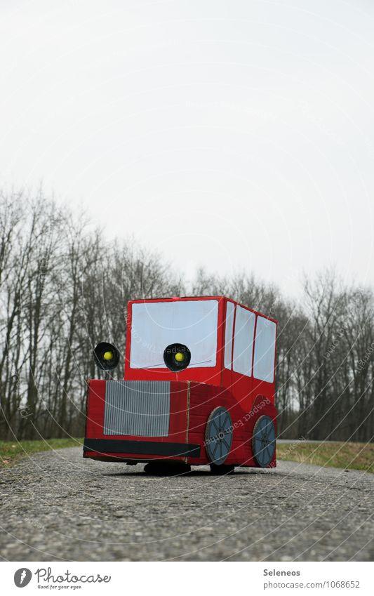 hup hup Himmel Baum Winter Straße Umwelt Herbst Spielen Freizeit & Hobby Verkehr PKW Wolkenloser Himmel Verkehrswege Umweltschutz Fahrzeug Personenverkehr