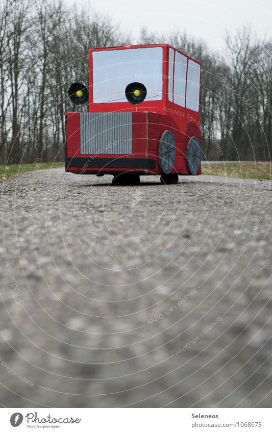 ökokarre Winter Straße Herbst Wege & Pfade Spielen Ausflug Freizeit & Hobby Verkehr PKW fahren Verkehrswege nachhaltig Fahrzeug Personenverkehr Basteln