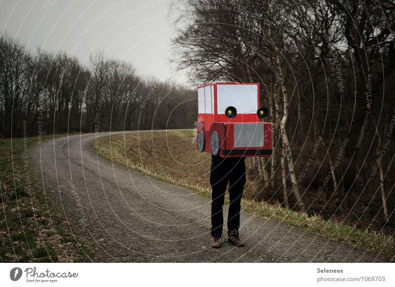 Pappmaschine Mensch Natur Ferne Umwelt Bewegung Spielen Freiheit PKW Verkehr Ausflug Abenteuer fahren Verkehrswege Umweltschutz Fahrzeug ökologisch