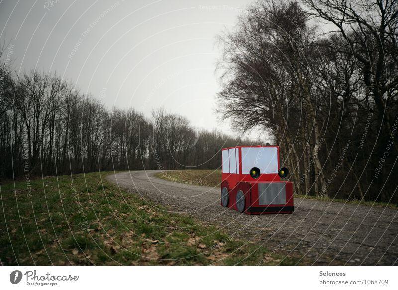 Ökokarre Winter Ferne Straße Herbst Freiheit PKW Verkehr Ausflug Abenteuer fahren Verkehrswege Fahrzeug ökologisch Personenverkehr Autofahren Verkehrsmittel