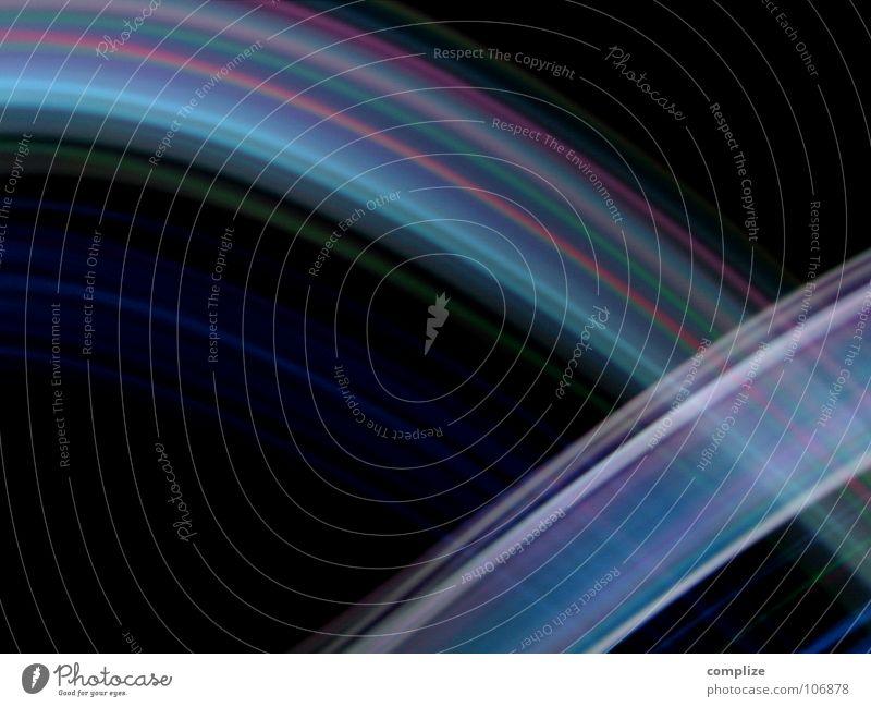 lightwaves 01 blau grün Farbe schwarz hell Hintergrundbild Musik Verkehr Elektrizität Kreis Streifen Kabel Spuren Internet violett Verbindung