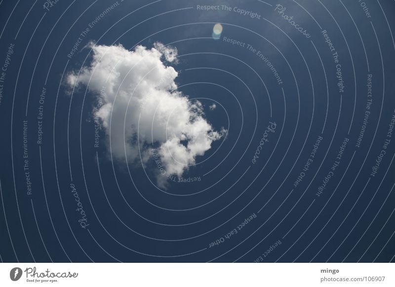 ne nette Wolke Natur Himmel weiß blau Wolken Einsamkeit Erholung Glück Denken Wetter Umwelt Niveau Wasserdampf Watte Regenwolken