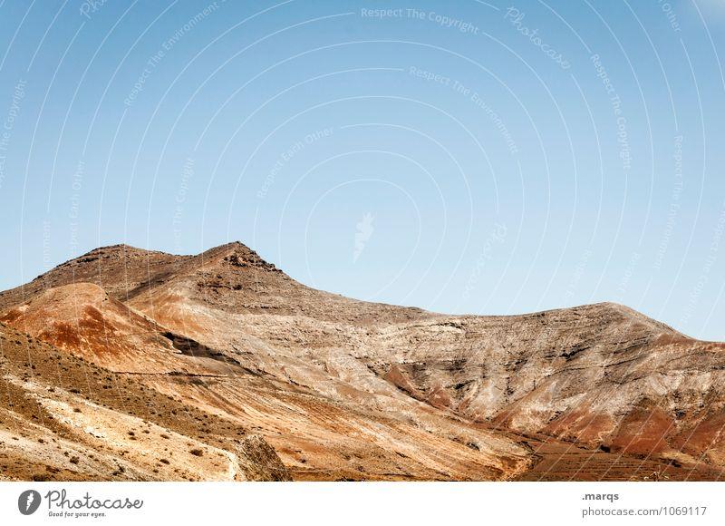 Gebirge Ferien & Urlaub & Reisen Ausflug Ferne Natur Landschaft Wolkenloser Himmel Sommer Schönes Wetter Dürre Berge u. Gebirge exotisch hell trocken