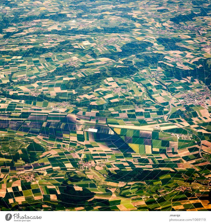 Landwirtschaft Ferien & Urlaub & Reisen Ausflug Forstwirtschaft Natur Landschaft Feld viele Perspektive Farbfoto Luftaufnahme Muster Strukturen & Formen