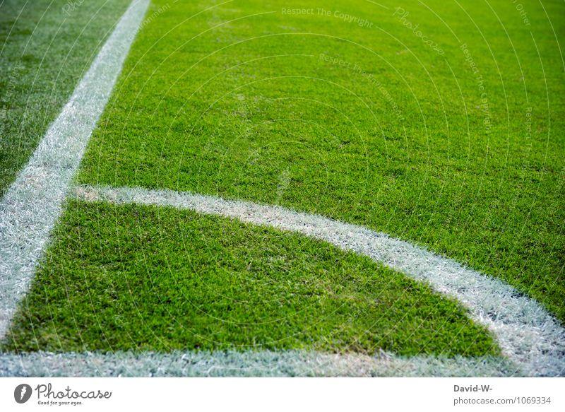 Ecke Mensch Gefühle Sport Spielen maskulin Freizeit & Hobby elegant Fußball Sportmannschaft sportlich Sportrasen Fernsehen Eckstoß Geometrie