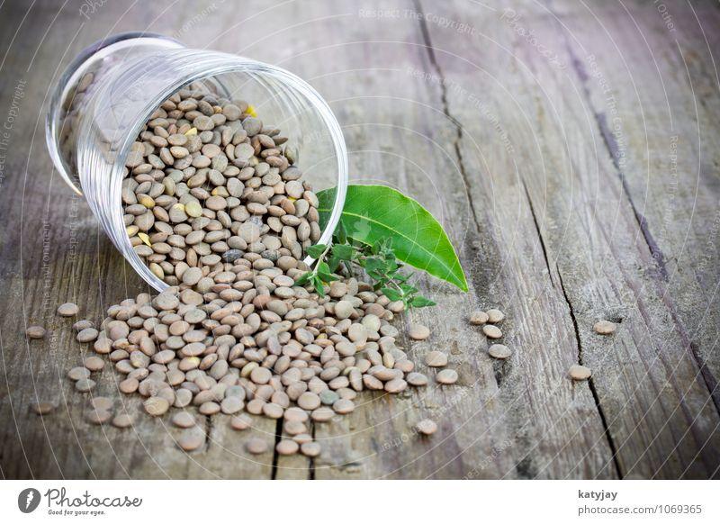 Linsen tellerlinsen getrocknet roh kochen & garen Hülsenfrüchte Glas Gemüse Vegetarische Ernährung Vegane Ernährung frisch Nahaufnahme Diät Samen trocken