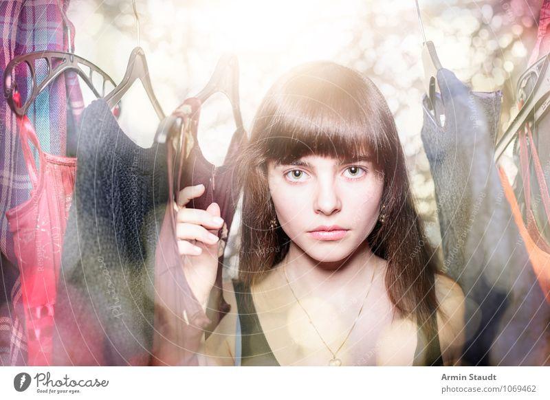 Neulich im Kleiderschrank III Mensch Frau Kind Jugendliche schön Junge Frau Hand Erwachsene feminin Stil Haare & Frisuren Mode Lifestyle Design leuchten elegant