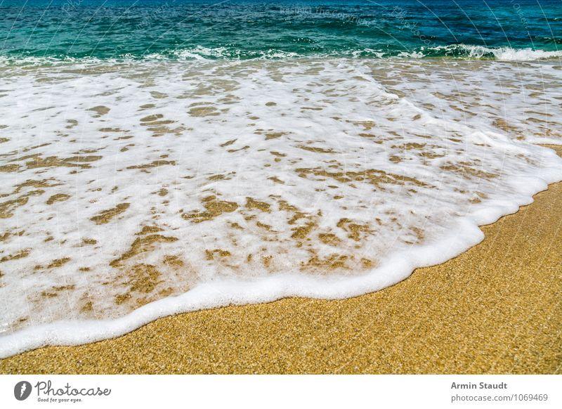 Strandhintergrund Lifestyle Design Erholung Ferien & Urlaub & Reisen Sommer Sommerurlaub Meer Wellen Natur Landschaft Sand Wasser Schönes Wetter Küste