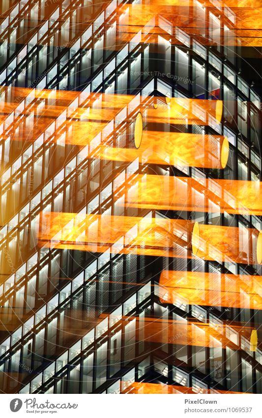 Lichter der Großstadt Ferien & Urlaub & Reisen Stadt schwarz gelb Gefühle Lifestyle Kunst Stimmung Fassade hell orange träumen Tourismus Häusliches Leben