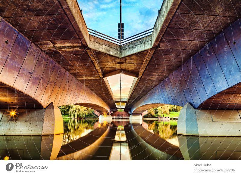 Torminbrücke Aasee Münster Himmel Natur Ferien & Urlaub & Reisen Stadt Wasser Sommer Sonne Architektur Frühling Stil See Park Design elegant Tourismus Sträucher
