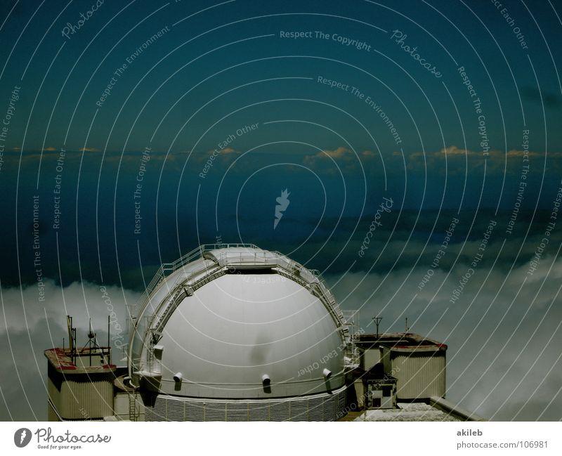 Sie leben Teleskop Observatorium weiß Bildung Himmel blau Wetter Technik & Technologie Metall
