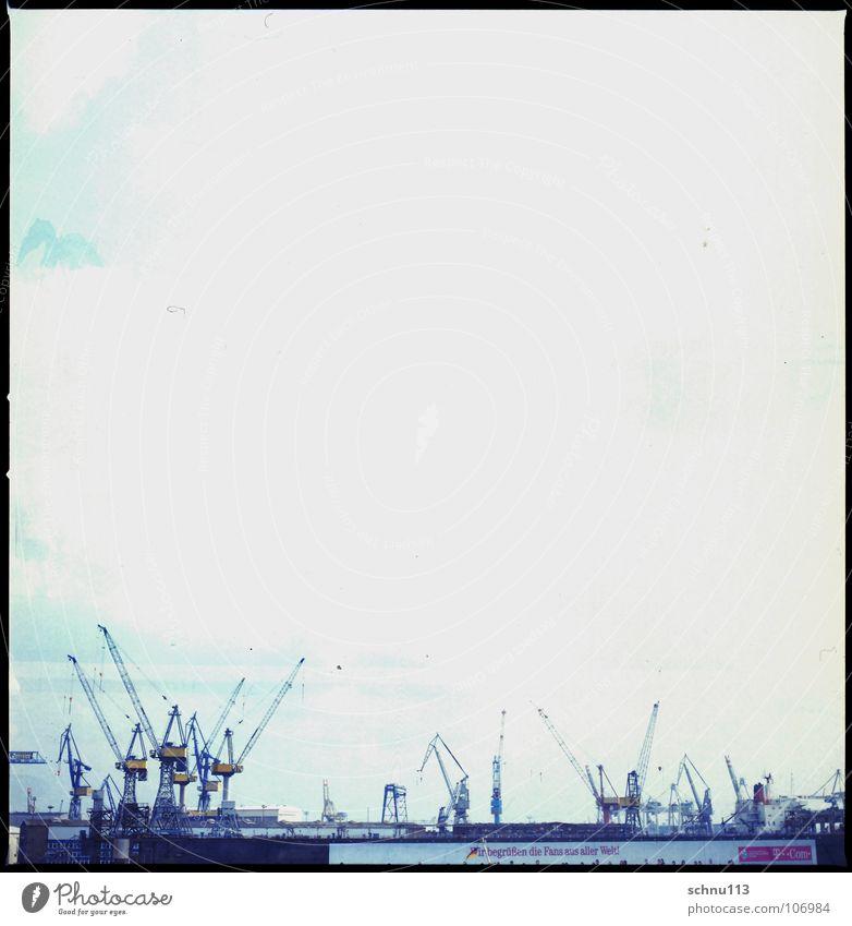 hamburg hafen Himmel Hamburg Hafen Kran Mittelformat