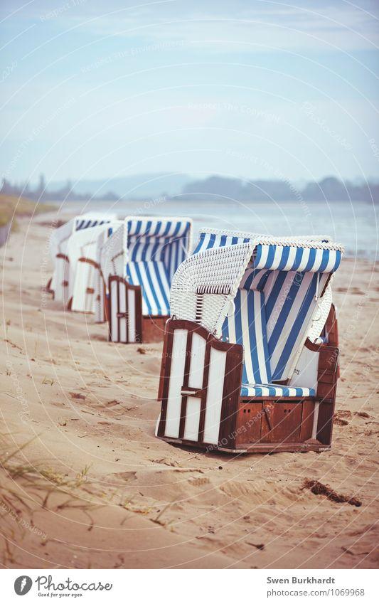 komm setz dich hin... Himmel Natur Ferien & Urlaub & Reisen blau Wasser Sommer Sonne Erholung Meer Landschaft Wolken Strand Ferne Umwelt Küste Holz
