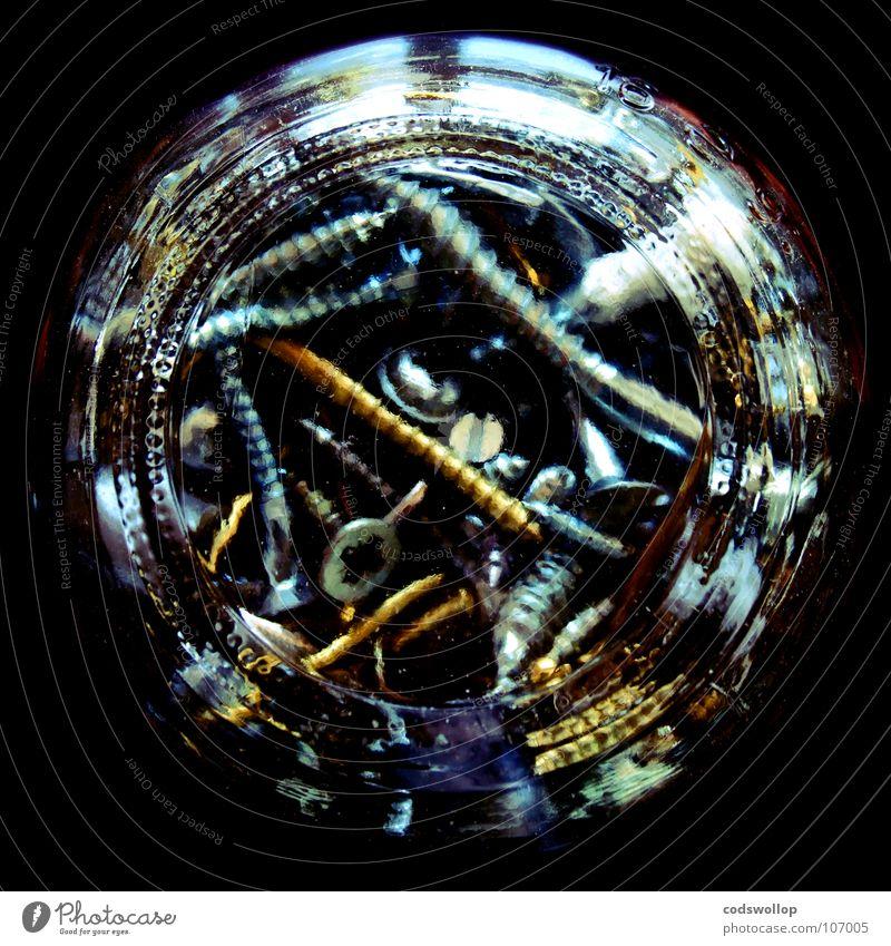 schrauben marmelade Schraubengewinde entgegengesetzt Kreuzschlitzschraube Marmeladenglas Messing Handwerk they'll all come in handy one day screws jam jar