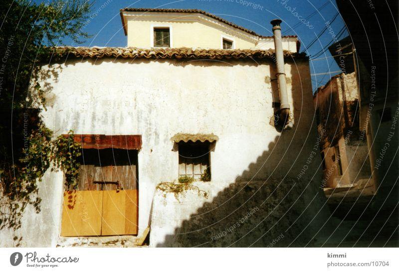 Korfiotische Impression Haus Europa Dorf Griechenland Korfu