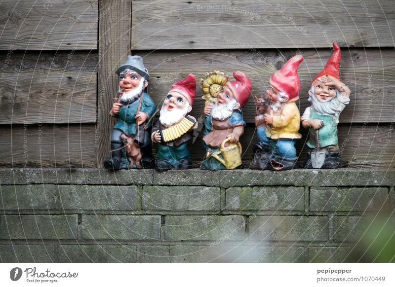 zwergenaufstand Freizeit & Hobby Häusliches Leben Garten Schaufel androgyn Körper 5 Mensch Menschengruppe 0-12 Monate Baby 60 und älter Senior Skulptur Mauer