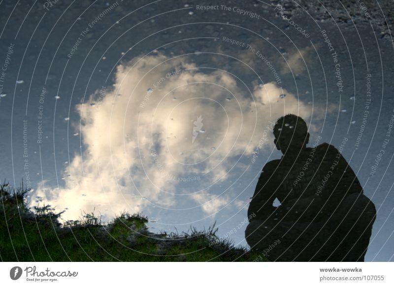 Nebo Himmel Wolken Rasen blasen entgegengesetzt