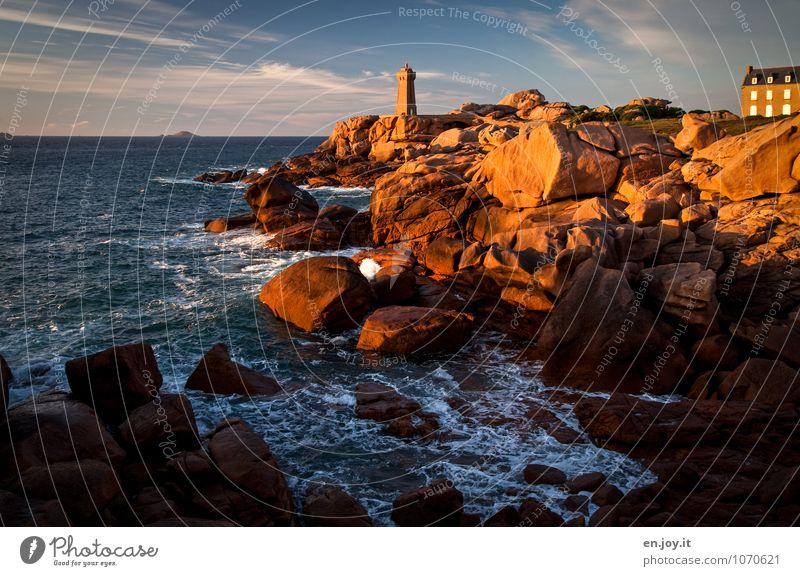 schönes Wetter Ferien & Urlaub & Reisen Tourismus Ausflug Abenteuer Ferne Sommerurlaub Meer Natur Landschaft Himmel Horizont Sonnenaufgang Sonnenuntergang