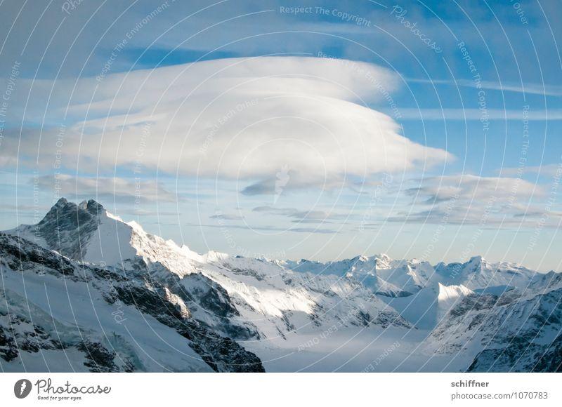 Riesenwolkenschaf Natur Landschaft Wolken Winter kalt Umwelt Berge u. Gebirge Schnee Felsen Eis Wetter Klima Schönes Wetter Gipfel Frost Alpen