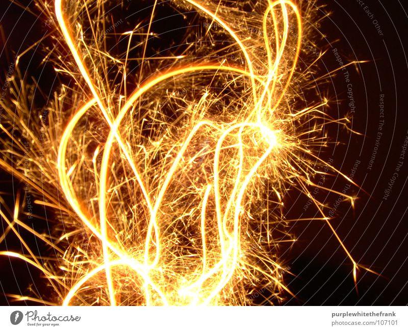 fireworks dunkel Bewegung Brand Kerze Silvester u. Neujahr Wunderkerze Lichtstrahl