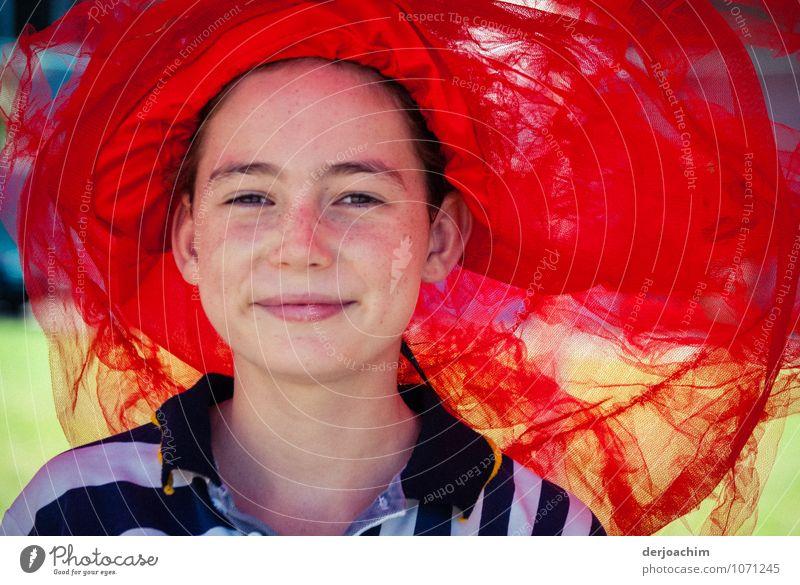 Rot siegt Mensch Kind Sommer Junge Frau rot Freude Mädchen feminin Sport Glück Schwimmen & Baden Kopf Park leuchten Zufriedenheit Kindheit