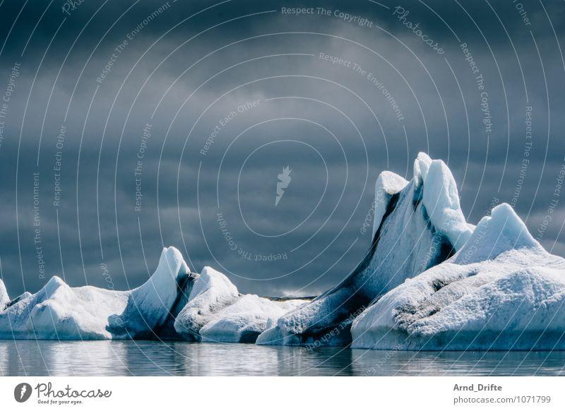 Island Ferien & Urlaub & Reisen Ausflug Abenteuer Ferne Natur Landschaft Urelemente Wasser Wolken Winter Wetter schlechtes Wetter Eis Frost Küste Seeufer