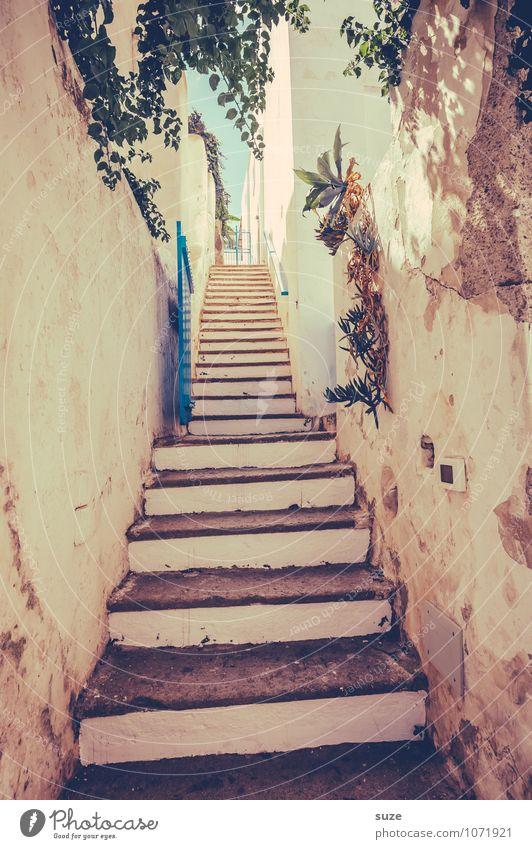 Du darfst weinen, schreien, du darfst auch kurz zweifeln Ferien & Urlaub & Reisen alt Reisefotografie Architektur Stil Treppe dreckig Idylle authentisch hoch Vergänglichkeit Kultur Italien Fußweg historisch Ziel