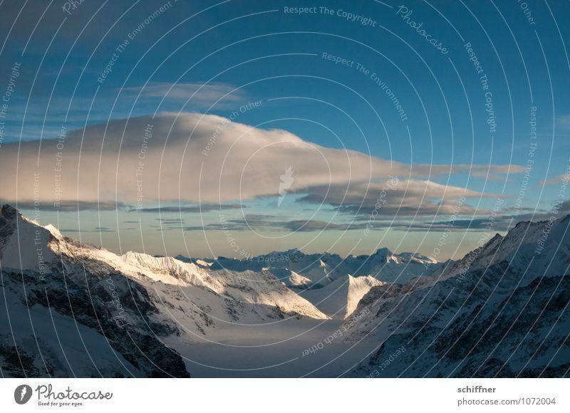 Riesenwolkenschaf, buckelnd Himmel Natur Landschaft Wolken kalt Umwelt Berge u. Gebirge Schnee Felsen Eis Schönes Wetter Gipfel Frost Alpen