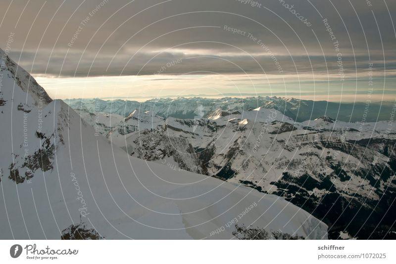 Genfer See Natur Landschaft kalt Umwelt Berge u. Gebirge Schnee Felsen Eis Klima Gipfel Frost Alpen Schneebedeckte Gipfel Klimawandel Gletscher Wolkendecke
