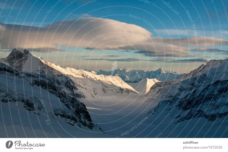 Riesenwolkenschaf, immer noch buckelnd Natur Landschaft Wolken kalt Umwelt Berge u. Gebirge Felsen Eis Wetter Klima Schönes Wetter Gipfel Frost Alpen
