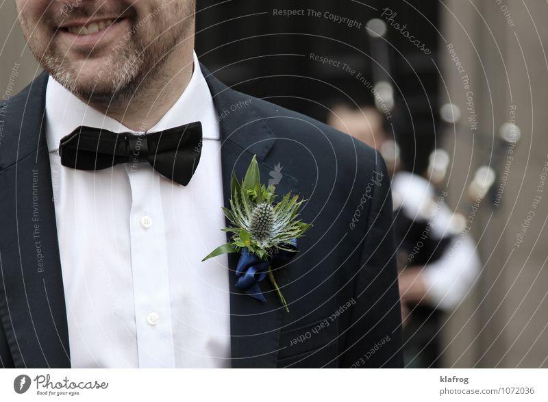 Schottische Hochzeitsdistel Feste & Feiern maskulin Mann Erwachsene Partner Bart 1 Mensch 30-45 Jahre Tanzen Musik Dudelsack Dudelsackspieler Schottland Distel