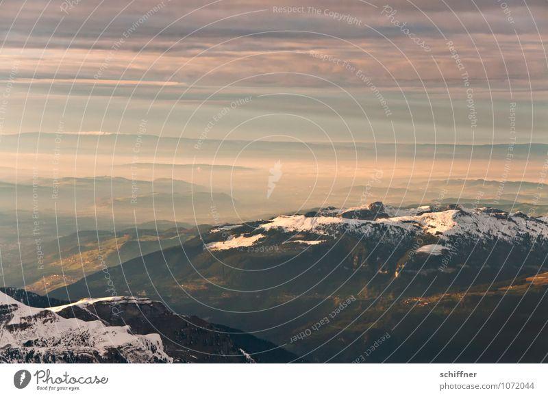Scheekäppchen Umwelt Natur Landschaft Wolken Klima Klimawandel Schönes Wetter Schnee Hügel Felsen Alpen Berge u. Gebirge Gipfel Schneebedeckte Gipfel