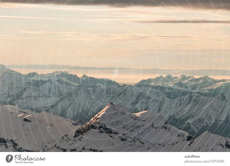 Mit Perwoll gewaschen Natur Landschaft Wolken kalt Umwelt Berge u. Gebirge Schnee Felsen Eis Klima Gipfel Frost Alpen Schneebedeckte Gipfel Klimawandel