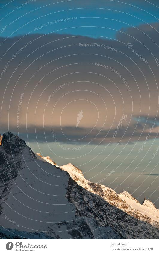 Riesenwolkenschaf, ganz groß Natur Landschaft Wolken kalt Umwelt Berge u. Gebirge Schnee Felsen Eis Wetter Klima Gipfel Frost Alpen Schneebedeckte Gipfel
