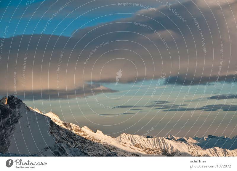 Riesenwolkenschaf, geht schlafen Wolken kalt Berge u. Gebirge Felsen Wetter Klima Schönes Wetter Gipfel Alpen Schneebedeckte Gipfel Klimawandel Gletscher alpin