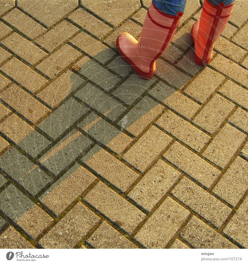 Princess Stiefel Gummistiefel rot Muster pflastern Fischgrätenmuster Schuhe Bekleidung Mädchen Schlamm Winter Herbst Feld Grenze Sauberkeit Stein bodel Beine
