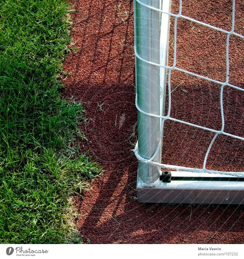 Ballsportspielecke Sportplatz Gras verloren Erfolg Sportveranstaltung Niederlage Spielfeld verlieren Freude Spielen Fußball Rasen Meisterschaft Tor Ecke Netz