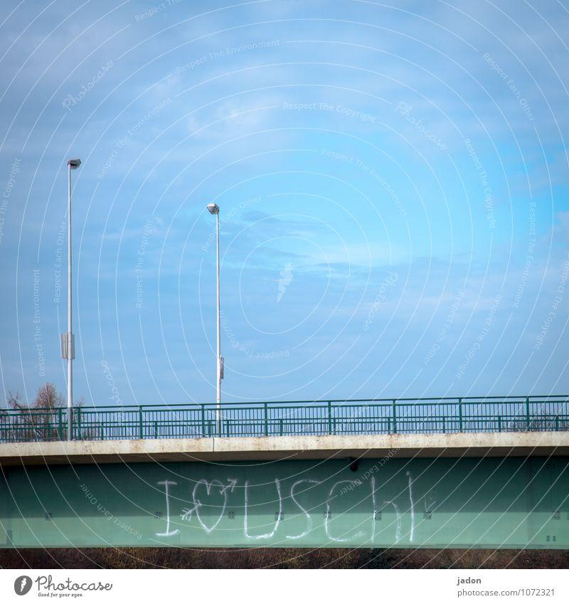 natürlich! Stil Werbebranche feminin Künstler Subkultur Himmel Wolken Skyline Brücke Bauwerk Mauer Wand Straße Beton Zeichen Schriftzeichen Ziffern & Zahlen
